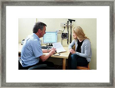 Migraine Consultation Framed Print by Saturn Stills