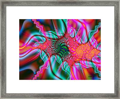 Framed Print featuring the digital art Migraine by Elizabeth McTaggart