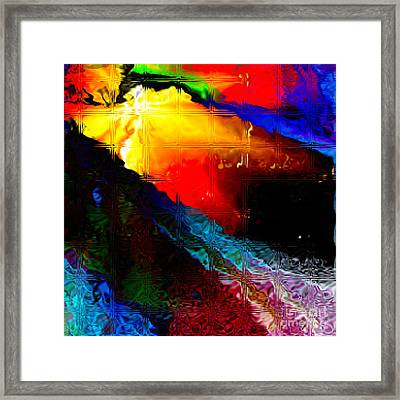 Migraine Glass Blocks Framed Print