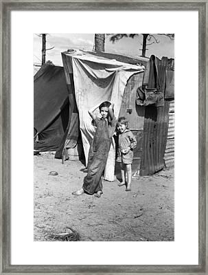 Migrant Children, 1937 Framed Print