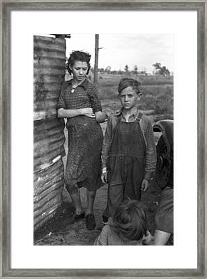 Migrant Family, 1937 Framed Print