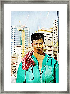 Migrant Worker Framed Print by Peter Waters