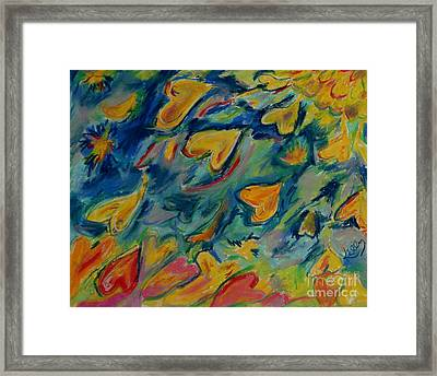 Migrating Hearts Framed Print by Kelly Athena