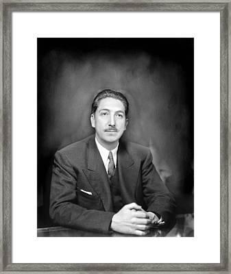 Miguel Alem�n (1900-1983) Framed Print by Granger