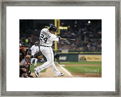 Miguel Cabrera Framed Print by Marvin Blaine