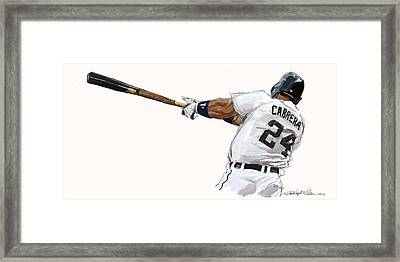 Miguel Cabrera Mash Framed Print by Chris Ross