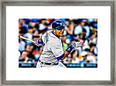 Miguel Cabrera Painting Framed Print by Florian Rodarte