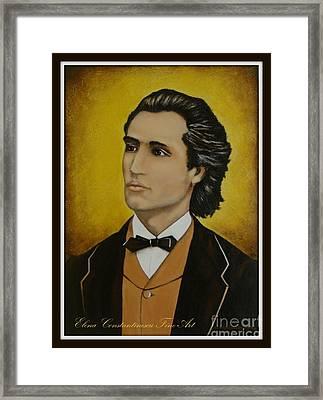Mihai Eminescu  Framed Print