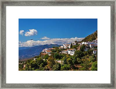 Mijas. White Village Of Spain Framed Print by Jenny Rainbow