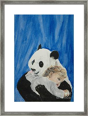 Mika And Panda Framed Print