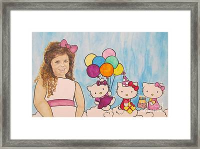 Mika Hello Kitty Framed Print by Tamir Barkan