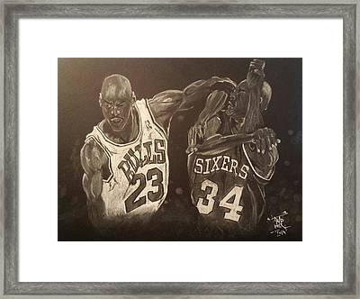 Mike And Sir Charles Framed Print by DMo Herr