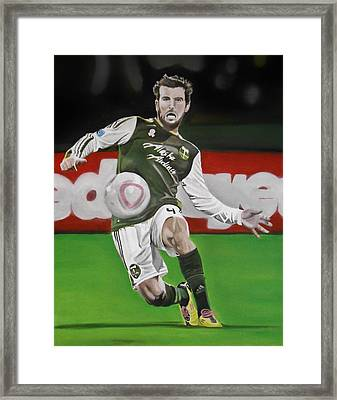 Mike Chewey Chabala Framed Print by Brian Broadway