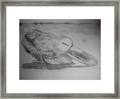 Mike Hailwood Framed Print by Jose Mendez