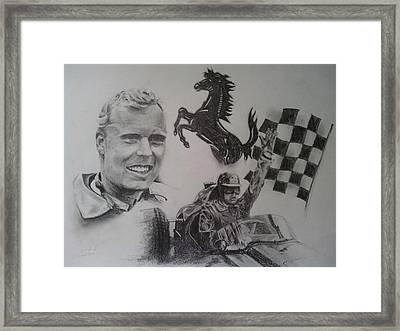 Mike Hawthorn Framed Print by Chris Lambert