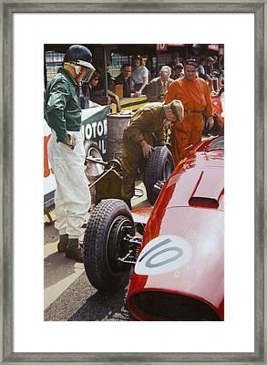 Mike Hawthorn Ferrari 801  Aintree 1957 Framed Print by Alberto Ponno