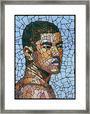 Mike In Mosaic Framed Print by Douglas Simonson