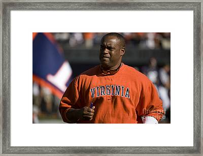Mike London Virginia Cavaliers Football Framed Print by Jason O Watson