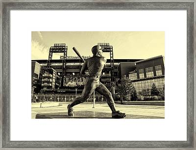 Mike Schmidt At Bat Framed Print