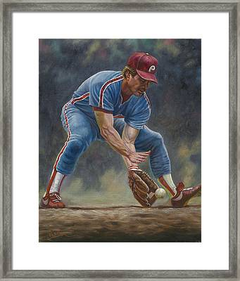 Mike Schmidt Framed Print by Gregory Perillo