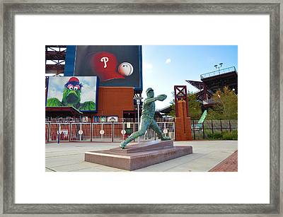 Steve Carlton Statue - Phillies Citizens Bank Park Framed Print by Bill Cannon