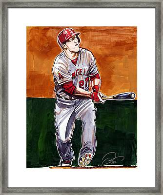 Mike Trout Framed Print by Dave Olsen