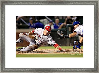Mike Trout Framed Print by Marvin Blaine