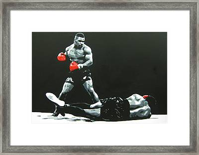 Mike Tyson 5 Framed Print by Geo Thomson