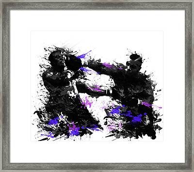 Mike Tyson Framed Print by Bekim Art