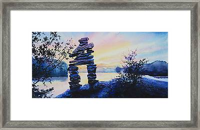 Mike Was Here Framed Print by Hanne Lore Koehler