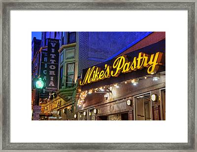 Mike's Pastry Shop - Boston Framed Print by Joann Vitali
