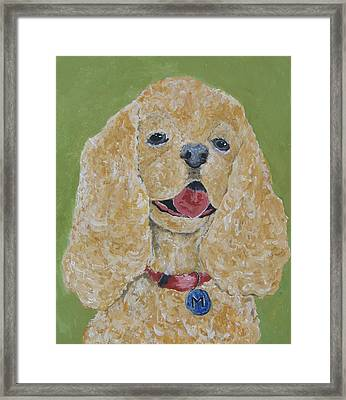 Framed Print featuring the painting Mikey by Suzanne Theis