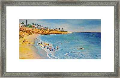 Mikeys Paddle Out Framed Print