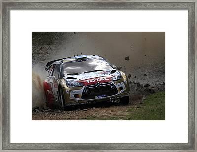 Mikko Hirvonen Fia World Rally Championship Australia Framed Print by Noel Elliot