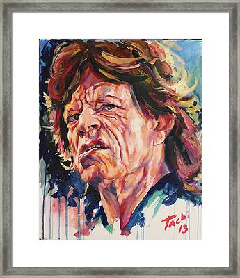 Mikle - 2 Framed Print by Tachi Pintor