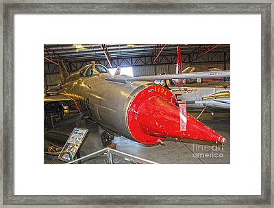 Mikoyan Gurevich Fishbed Mig-21r Framed Print by Gregory Dyer