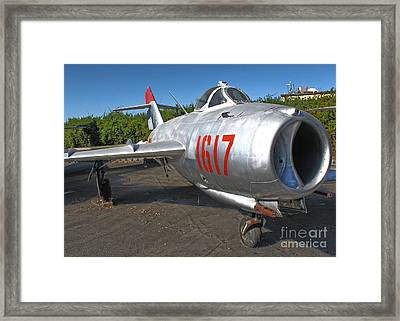 Mikoyan-gurevich Fresco Mig-17 Framed Print by Gregory Dyer