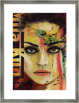 Mila Kunis  Framed Print by Corporate Art Task Force