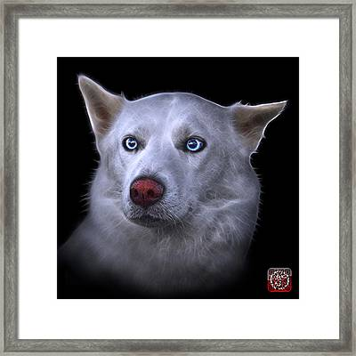 Framed Print featuring the painting Mila - Siberian Husky - 2103 - Bb by James Ahn