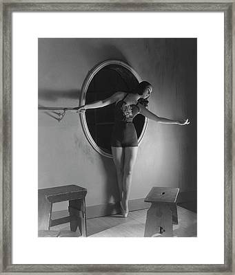 Milada Mladova On Pointe Framed Print