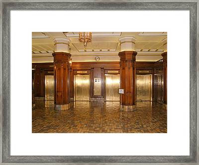 Framed Print featuring the photograph Milam Building Elevators by Antonia Citrino
