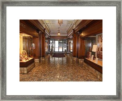 Framed Print featuring the photograph Milam Building Lobby by Antonia Citrino