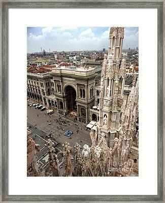Milan Cathedral Square Framed Print by Gregory Dyer
