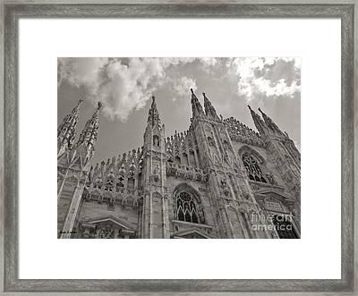 Milan Duomo Framed Print by Ramona Matei