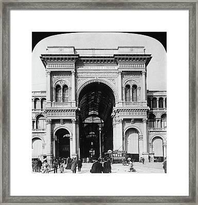 Milan Galleria, 1908 Framed Print