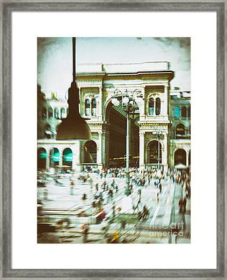 Framed Print featuring the photograph Milan Gallery by Silvia Ganora