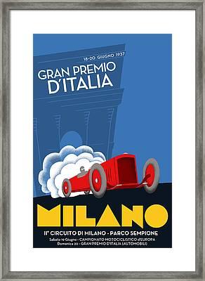 Milan Italy Grand Prix 1937 Framed Print
