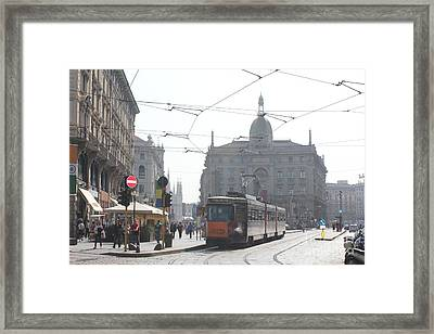 Milan Tram Framed Print by David Grant