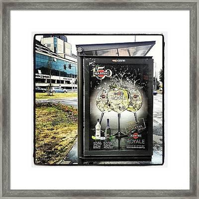#milano #busstop #bonola #martini Framed Print