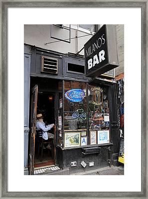 Milano's Bar Framed Print